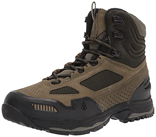 Vasque Men's Breeze at Mid Hiking Boot, Dusty Olive/Jet Black, 10.5 Wide