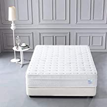 Oliver Smith - Organic Cotton - 12 Inch - Deluxe Sleep - Plush Euro Pillow Top - Cool Memory Foam & Pocket Spring Mattress...