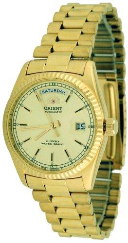 Orient #2EV03002G Men's Classic Day/Date Gold Tone Self Winding Automatic Watch