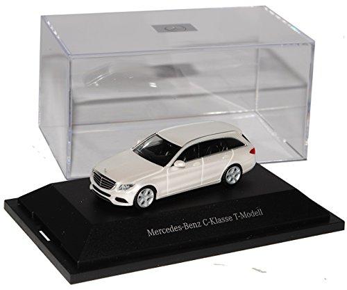 Herpa Mercedes-Benz C-Klasse Kombi Diamant Weiss Metallic W205 Ab 2014 H0 1/87 Modell Auto mit individiuellem Wunschkennzeichen