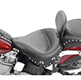 Mustang Wide Studded Solo Seat with Backrest 79120