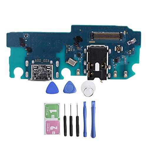Cargador USB Puerto de Carga Flex Cable Board Dock Connector para Samsung A02, Tail Plug Flex Cable Reemplazo Interfaz de Carga USB Ajuste Compacto para Samsung A02