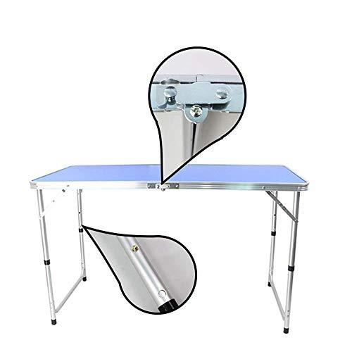 41cpwy0aOmL - JJSFJH Aluminium Außenklapptisch Pendulum Barbecue Camping Zubehör kann über Klappstuhl beweglichen im Freien Picknick-Tisch Adjustable, Folding Camping Tisch mit 4 Stühlen