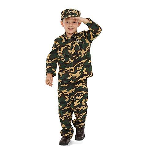 Dress Up America Disfraz de Soldado de ejército de Lujo para niños