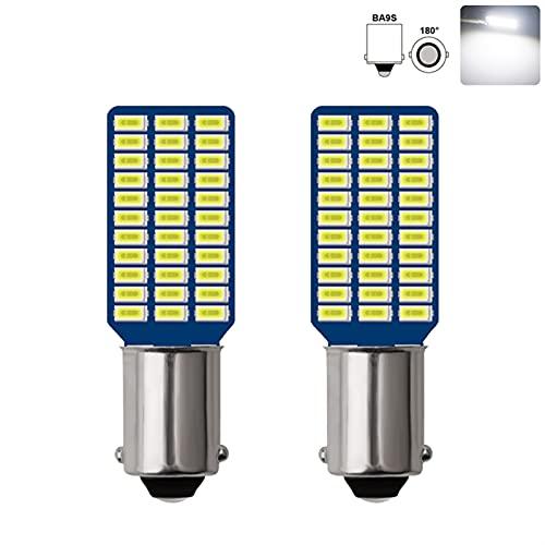 2x bil LED-lampa BA9S T4W LED-lampor Biltillstånd Plate Light Reading Lamp DC12V (Emitting Color : White limited offer)