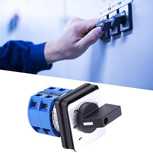 Weikeya Interruptor de Cambio Universal eléctrico, 690V 25A BEM28-25/2 D202 selector de...