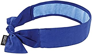 Ergodyne 12567 Chill-Its Evaporative Cooling Bandana, Standard, Blue (Pack of 6)