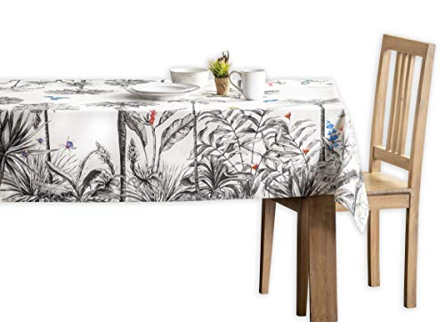 Maison d' Hermine Amazonia - Mantel de algodón 100% para cocina, comedor, decoración de mesa, fiestas, bodas, Acción de Gracias Navidad...