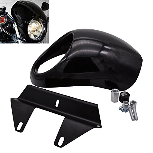 Rebacker Chin Lower Fairing Front Spoiler Air Dam Cover for Harley Sportster Fatboy Softail Touring Glide Dyna