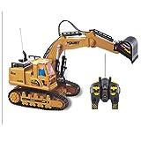 PBTRM Tractor Construcción Excavadora RC Funcional, Tractor Construcción Control Remoto Pala Camión para Niños 2,4G
