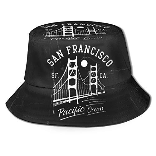 GYHJH San Francisco Golden Gate Bridge Mond Fischerhut Faltbarer Reisestrand Sonnenhut