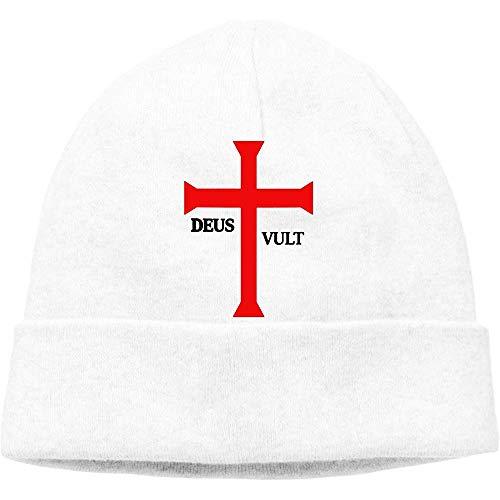 LinUpdate-Store Deus Vult (God Wills It!) Muts Cap Skull Hat gebreide muts voor volwassenen