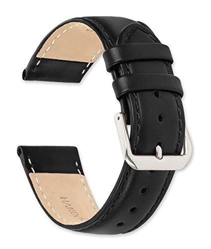 deBeer Stage Coach Leather Watch Strap - 18mm - Black