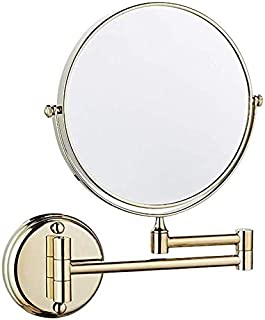 BMJ&C Makeup Mirror Double-Sided Beauty Mirror Home Bathroom Mirror Folding Shaving Mirror Magnifier 360 Degree Rotatable Black (Color : 04, Size : 6 inch/5×)