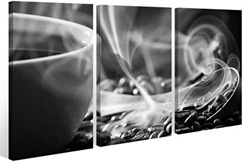 Leinwand tlg. Kaffee Bohnen schwarz weiß Küche Cafe Tasse ...