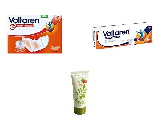 Voltaren Schmerz Sparset - Wärmepflaster Nacken Und Schulter 4 St. & Schmerzgel forte 23,2 mg/g 100 g inkl. GRATIS Rats-Apotheke Pflegecreme