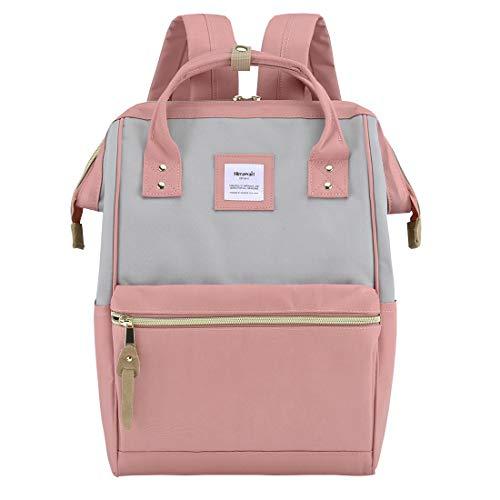 Himawari Laptop Backpack Travel Backpack With USB Charging Port Large Diaper Bag Doctor Bag School Backpack for Women&Men(9001-Gray&Pink)