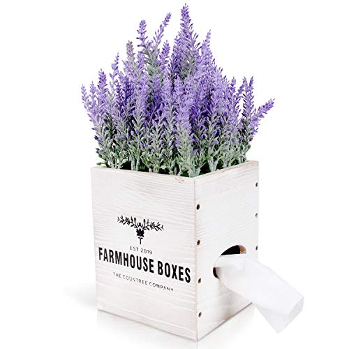 Countree Farmhouse Square Tissue Box Cover   Get Well Gifts