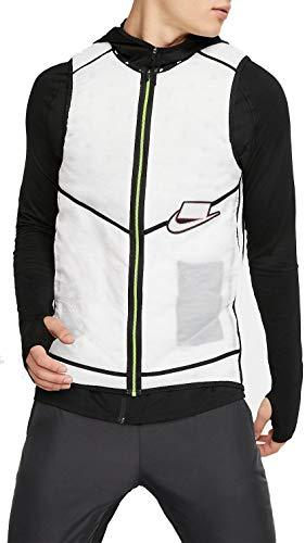 Nike Mens Jacket True Small Wild Run Lightweight Vest White S