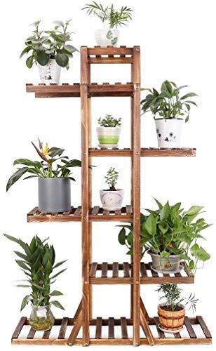 Soporte para plantas de madera Jardinera de hierbas Estante de escalera de flores para interiores y exteriores Soporte para plantas de varios niveles Soporte para bonsáis para estantería exterior Pati