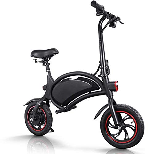 """April Story Folding Electric Bicycle Adult Electric Bicycles with 12""""Wheels 36V Black Matte Lightweight Urban Electric Bike for Adults"""