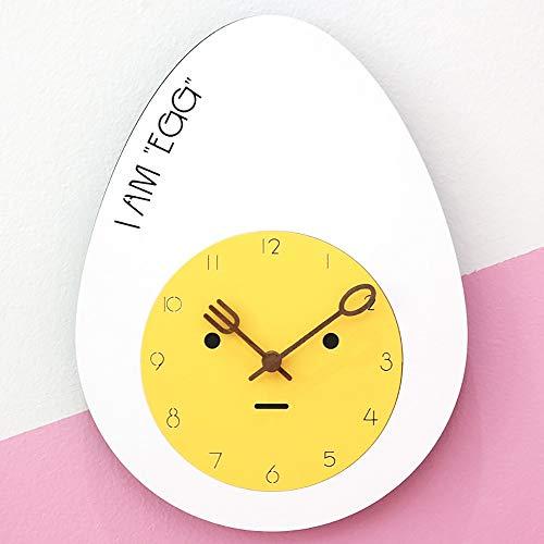 WHSS Relojes de pared silenciosos reloj de pared sala de estar personalidad moderna dormitorio reloj lindo niños dibujos animados pared gráficos