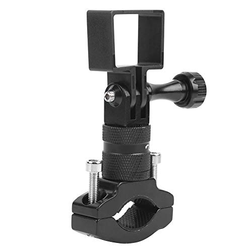 Naroote Aluminum Alloy + Plastic Black Motorbike Handlebar Bracket Handlebar Bracket Small Size for Osmo Pocket ballhead Camera