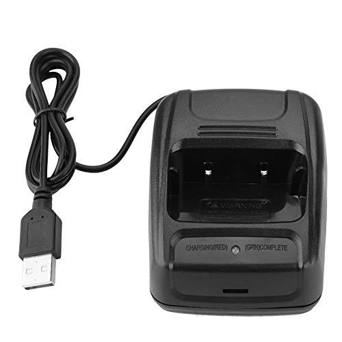 iFCOW Estación de carga USB Walkie Talkie de dos vías de radio para BF888S/BF777S/BF666S