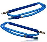 Bayli [Set da 2] – Tubo per narghilè da 1,8 m [colore – blu] per Hookah   2 tubi di ricambio per narghilè   Tubo con bocchino imbottito