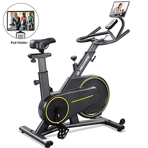 MaxKare Exercise Bike Stationary Magnetic Indoor Cycling Bike Belt Drive for Home with...