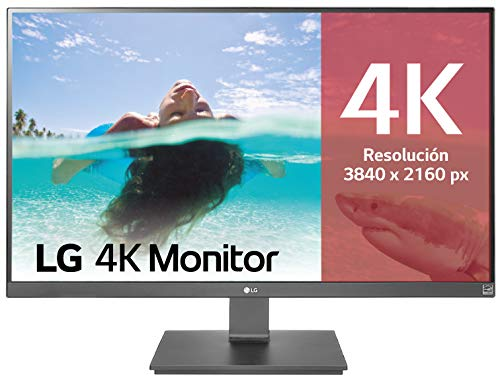 LG 27UD59-B - Monitor 4K UHD de 68,6 cm (27') con Panel IPS (3840 x 2160 píxeles, 16:9, 250 cd/m², NTSC 72%, 1000:1, 5 ms, 60 Hz) Color Negro y Plata