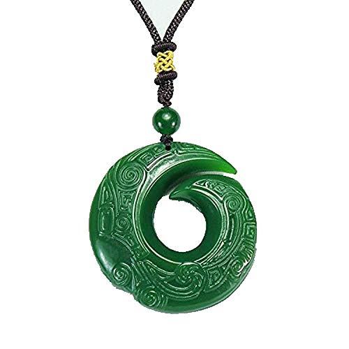 Best Friend Collares, collar con colgante de jade para mujer, collar con colgante de jade de dragón verde de moda, tallado a mano, relajante, curativo, mujer, hombre, regalo de la suerte