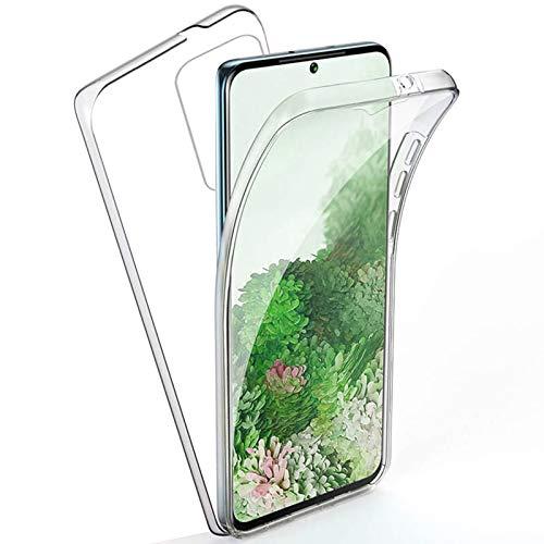 TBOC Funda para Samsung Galaxy S20 Ultra [6.9'] - Carcasa [Transparente] Completa [Silicona TPU] Doble Cara [360 Grados] Protección Integral Total Delantera Trasera Lateral Móvil