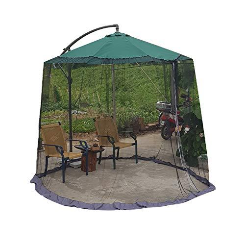 ZHOUAICHENG Sombrilla Mesa de Jardín al Aire Libre Cubierta de Mosquitera Cubierta de Pantalla Cubierta de Red contra Insectos Mosquito Adecuado para Sombrillas Gazebos 270 * 320 cm