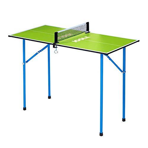 JOOLA Tischtennisplatte Mini - Freizeit Indoor Tischtennistisch Inklusive Tischtennisnetz - Grün  90 x 45 x 76 cm 7 kg