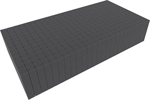 Feldherr 500 mm x 250 mm x 100 mm Pick and Pluck / Pre-Cubed Foam Tray