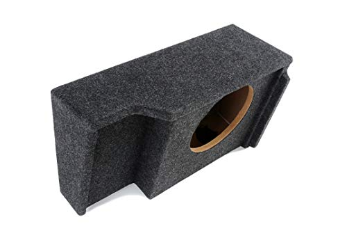 """Atrend """"Bbox A151-12CP Single 12"""""""" Sealed Carpeted Subwoofer Enclosure - Fits 1999-2007 Chevrolet/GMC Silverado/Sierra Extended Cab"""", charcoal"""
