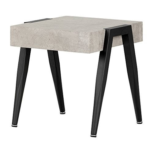 South Shore , Concrete Gray and Black City Life End Table