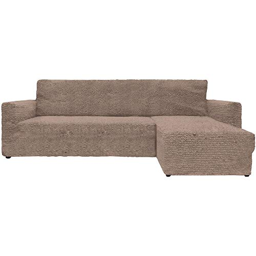 Mixibaby Eck Sofabezug Sofahusse Sesselbezug Sesselüberwurf Sofahusse Links oder rechts, Farbe:Taupe, Variante:Links