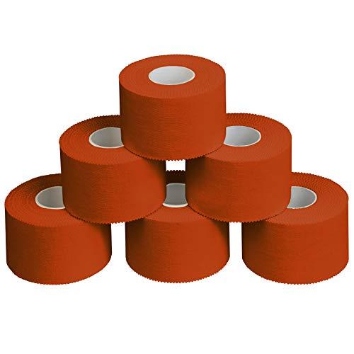 ALPIDEX 6 x Sport-Tape 3,8 cm x 10 m, Farbe:orange