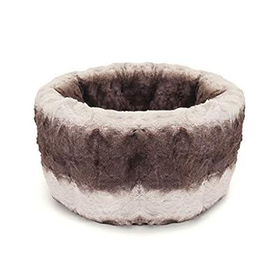 Rosewood 40 Winks Snuggle Plush Pet Bed, Grey/Cream_p