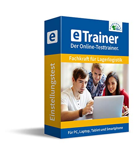 Einstellungstest Fachkraft für Lagerlogistik 2020: eTrainer – Der Online-Testtrainer | Über 1.000 Aufgaben mit Lösungen: Allgemeinwissen, Sprache, Mathe, Logik, Konzentration … | Eignungstest üben