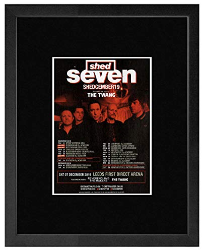 Shed Seven The Twang - Shedcember Tour 2019 Framed Mini Poster - 28.5x23.5cm