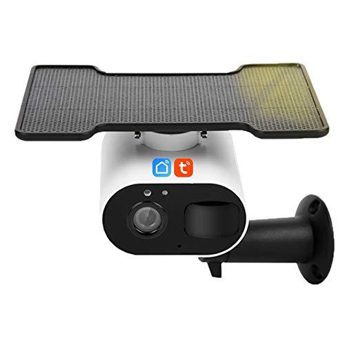 Jings Cámara de Seguridad Solar para Exteriores, cámara IP de visión Nocturna en Color de Audio bidireccional 1080P, cámara inalámbrica de detección de Movimiento para Exteriores Tuya Smart Life