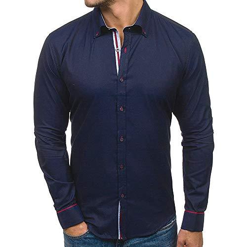 manadlian Homme Chemise Coton T-Shirts à Manches Longues Chemisier Business Blouse Haut Casual Mode Manteaux Nouveau Style Sweatshirt Outwear Tops