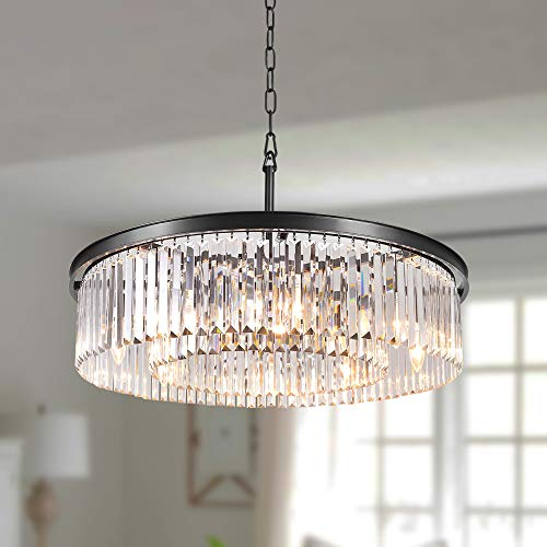 DSRJ Luxury Crystal Chandelier Modern Raindrop Pendant...