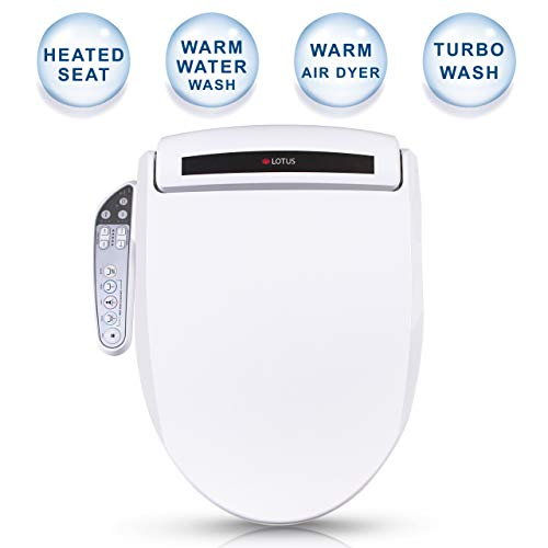 Lotus Smart Bidet ATS-800 FDA Registered, Heated Seat, Temperature Controlled Wash, Warm Air Dryer, Easy DIY Installation, Made in Korea