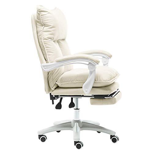 luckyW sillas de Oficina de la computadora, computadora de Cuero de la PU, Silla Viva del Ancla Silla del Ordenador del sillón de la Oficina del Jefe