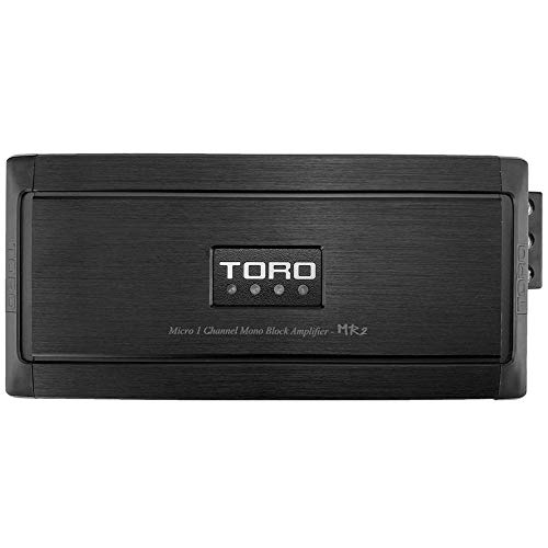 TORO TECH – MR2, 1000 Watts MAX – 500 Watts x 1 RMS 1Ω Stable Micro Sized Monoblock Car Amplifier Sound Quality Class D Design, Built-in Auto Sensing Turn On, Car Amplifier