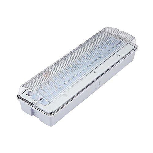 Luces de emergencia LED: señal de salida con luz intermitente o sostenida, Bulkhead 7.5W 7.5 watts
